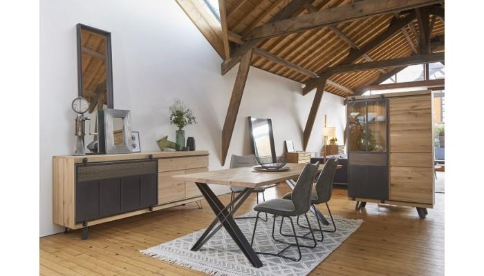 SCISSION - Table 4 pieds X métal