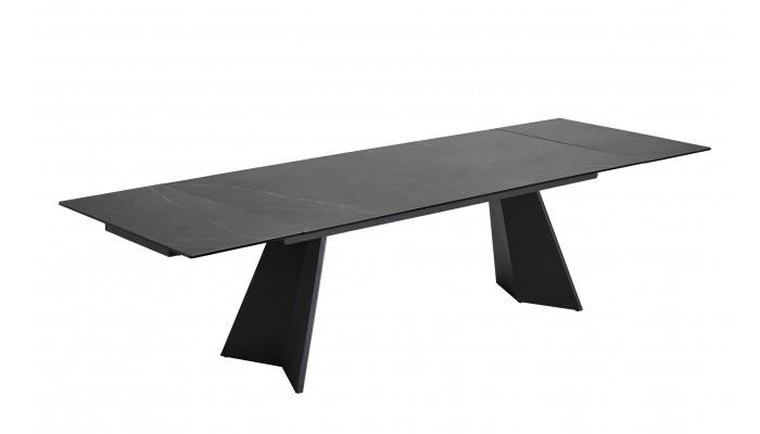 OLYMPE - Table céramique 2 allonges