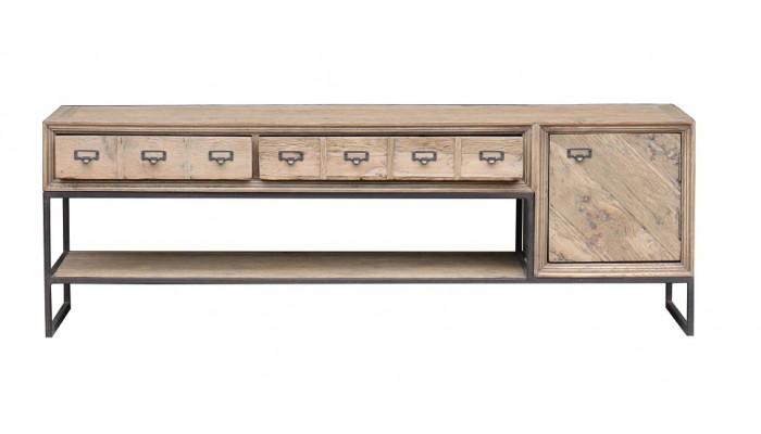 ALMA - Meuble TV 1 porte 2 tiroirs