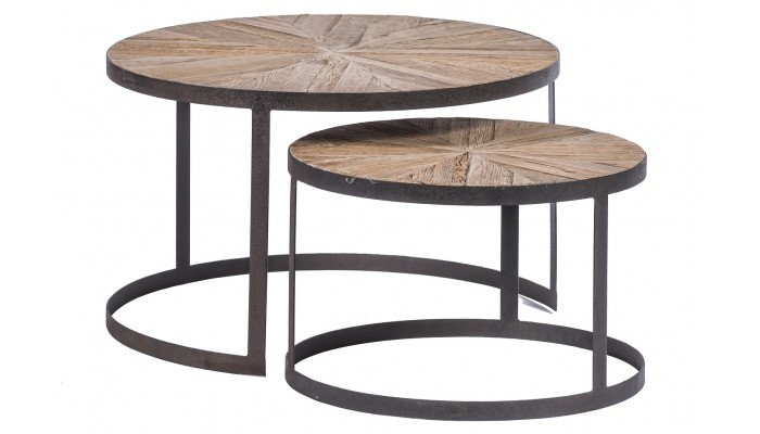 ALMA - Set de 2 tables rondes