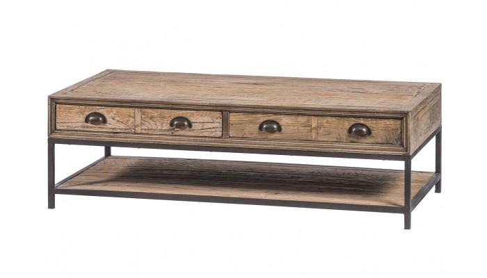 ALMA - Table basse 2 tiroirs