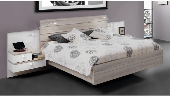 HARON - Lit pour couchage 140 x 190 cm
