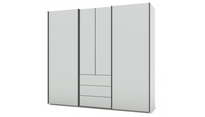 PERLA - Armoire 2 portes battantes, 2...