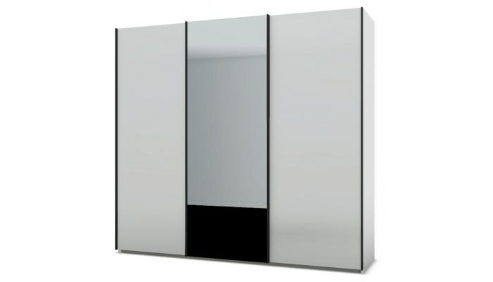 PERLA - Armoire 3 portes 1 porte miroir