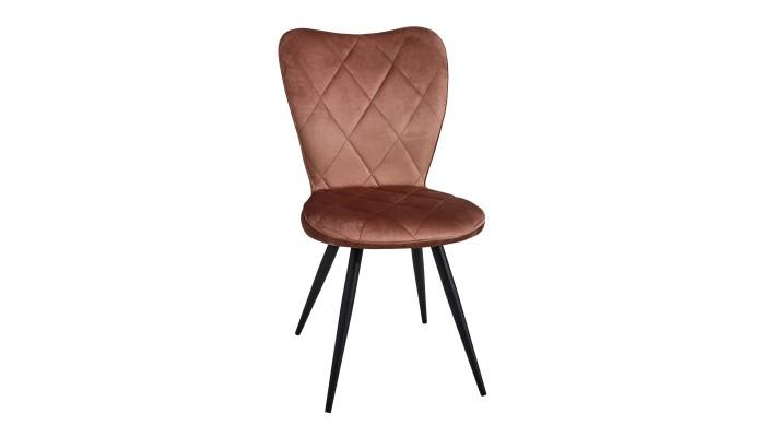 RAFFINE - Chaise tissu pied métal