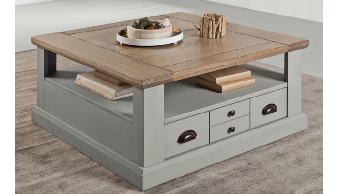 CANTIQUE - Table basse 2 tiroirs...