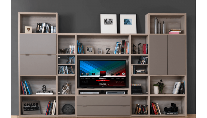 HATTAN - Composition meuble TV et...