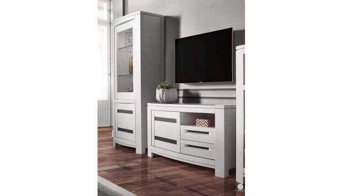 NESS - Meuble TV une porte deux tiroirs